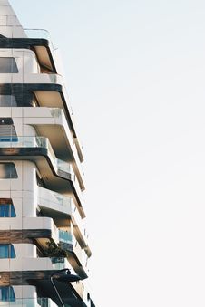 Free Balconies On Modern Building Stock Images - 91107314