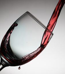 Free Wine Pouring Into Glass Stock Images - 91107554