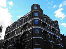 Free Building With Arched Balconies Stock Photography - 91107662