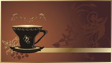 Free Cup With Coffee. Wrapping Stock Image - 9129831