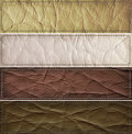 Free Leather Banner Set Stock Photo - 91247210