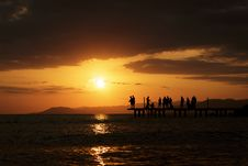 Free Silhouette Of People At Sunset Royalty Free Stock Photo - 91249245