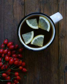 Free Hot Tea With Lemon Royalty Free Stock Image - 91250146