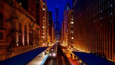 Free Train Platform In City At Night Royalty Free Stock Image - 91250156