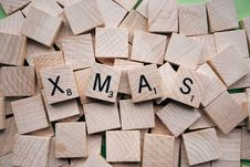 Free Wooden Tiles Spelling Xmas Royalty Free Stock Photo - 91251025