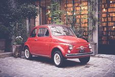 Free Fiat Parked Outside Library  Royalty Free Stock Photos - 91251788