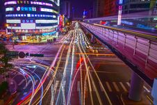 Free Light Trails On City Street Stock Photo - 91252050