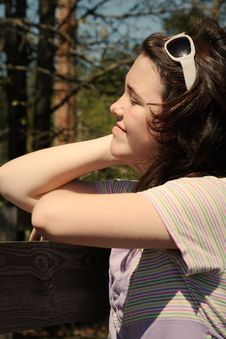 Free Teen Girl In The Sun Stock Photography - 9134432