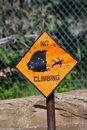 Free No Climbing Warning Sign Object Royalty Free Stock Images - 9146329