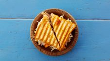 Free Sandwich On Plate Stock Photography - 91447172