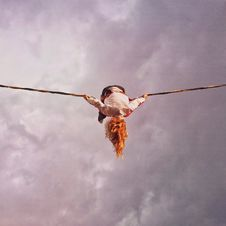 Free Person On Rope Royalty Free Stock Photos - 91447218