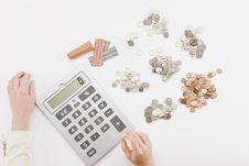 Free Coins To Calculate Stock Photos - 9159343