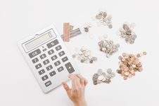 Free Calculating Currency Stock Image - 9159351