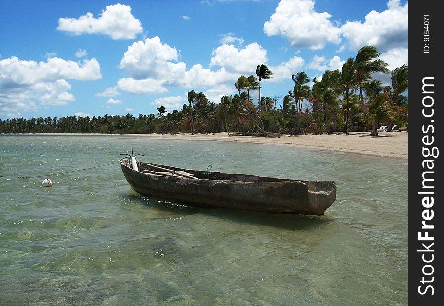 Boat at the coastline