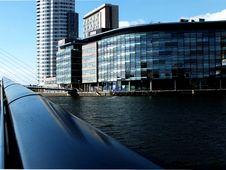 Free Modern Buildings On River Bank Royalty Free Stock Image - 91520236