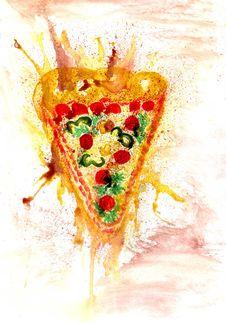 Free Tasty Pizza Art Stock Photo - 91612910