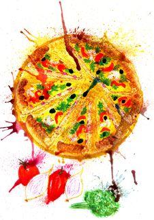 Free Tasty Pizza Art Royalty Free Stock Photography - 91613017