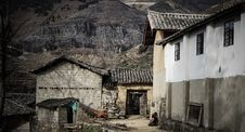 Free Stone Homes In Abandoned Village Stock Image - 91629911