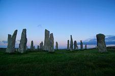 Free Callanish Stones Royalty Free Stock Photos - 91630288