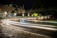 Free Traffic With Light Trails Royalty Free Stock Photos - 91630488