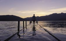 Free Walking On Flooded Pier Royalty Free Stock Image - 91631056