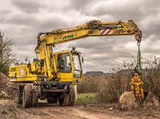 Free Yellow, Construction Equipment, Mode Of Transport, Vehicle Royalty Free Stock Image - 91631396