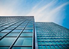 Free Low Angle View Of Office Building Against Blue Sky Royalty Free Stock Photos - 91664968