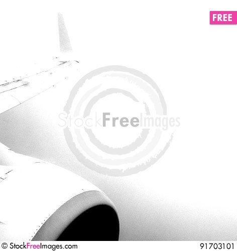 Free Aeroplane Wing & Engine Sketch Image Stock Image - 91703101