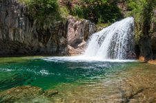 Free Waterfall Trail On Fossil Creek Royalty Free Stock Images - 91756339