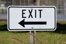 Free Exit Sign Royalty Free Stock Photography - 91757357
