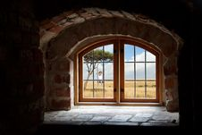 Free Window Of Old Countryside Building Stock Images - 91757614