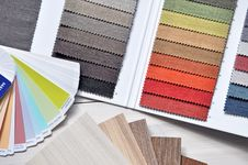 Free Palettes With Color Samples Stock Images - 91757894