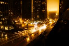 Free Traffic In City At Night Stock Photos - 91758023