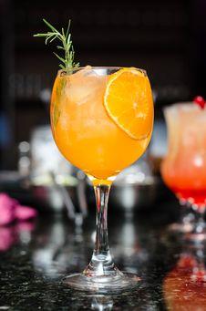 Free Orange Cocktail Stock Photography - 91759362