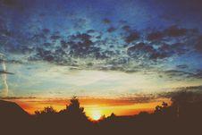 Free Orange Countryside Sunset Royalty Free Stock Photography - 91759857