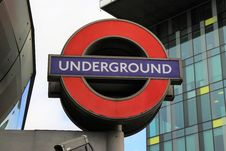 Free Underground Sign Royalty Free Stock Images - 91760009