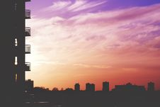 Free Colorful Sunset In City Stock Photo - 91760190