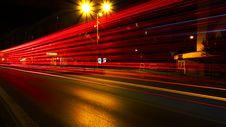 Free Long Exposure Of Passing Traffic Stock Photos - 91760773