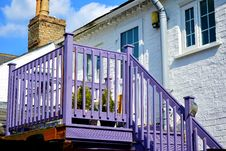 Free Violet Stairs And Balcony Stock Images - 91760854