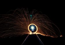Free Long Exposure Of Sparks Stock Photos - 91760863