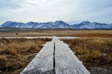 Free Landscape Photo Of Brown Field Near The Snowy Moutain Royalty Free Stock Photos - 91761008