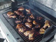 Free Barbecued Chicken 2 Royalty Free Stock Photos - 91771178