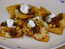 Free Chicken And Black Bean Nachos Stock Images - 91774254