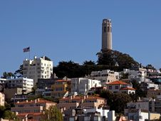 Free Coit Tower On Telegraph Hill Royalty Free Stock Photos - 91775028