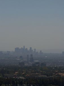 Free Los Angeles Smog Stock Photography - 91781442