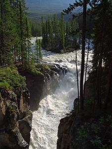 Free Sunwapta Falls Jasper Royalty Free Stock Photos - 91789538