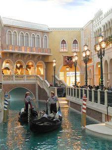 Free Venetian Casino Canals Stock Image - 91791191