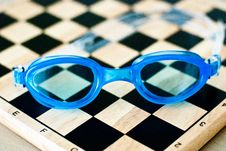 Free Swimming Glasses Stock Image - 91810071