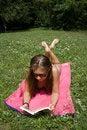 Free Lady Reading Book Royalty Free Stock Photo - 920335