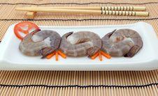 Free Japanese Food - Gourmet Raw Sushi King Tiger Prawns Royalty Free Stock Image - 920516
